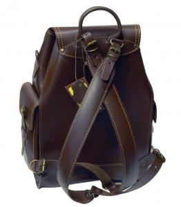 Рюкзак кожаный Unileather 3КБ СРК коричневый