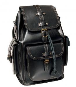 Рюкзак кожаный Unileather 3КБ черный