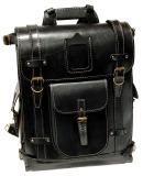 Ранец кожаный Unileather РА3К черный