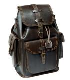 Рюкзак кожаный Unileather 3КБ коричневый