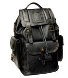 Рюкзак кожаный Unileather 3КБ Викинг флоттер черный